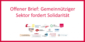 Offener Brief: Gemeinnütziger Sektor fordert Solidarität