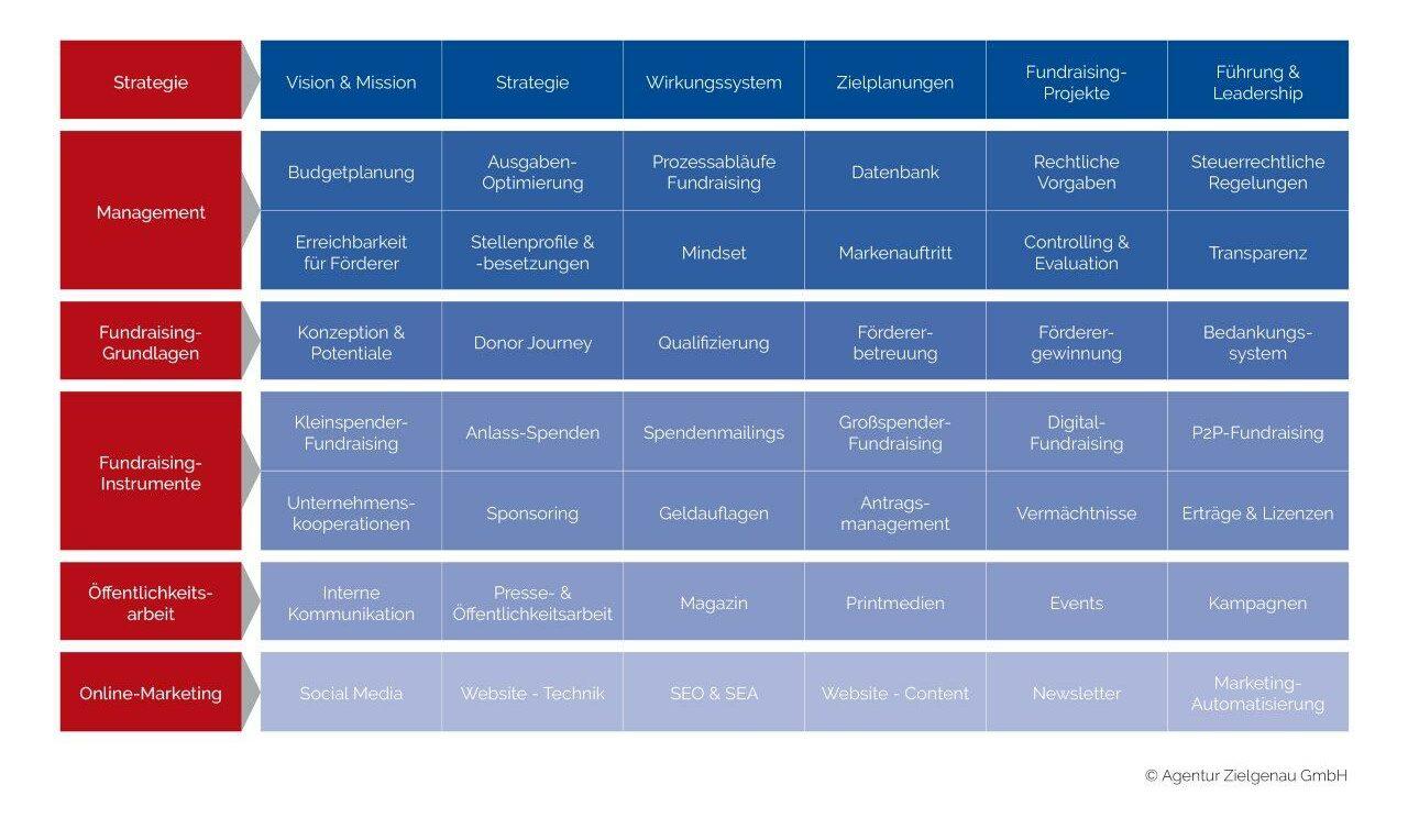 Strategische Arbeitsfelder für das Fundraising Development