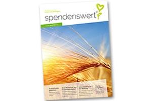 Cover und Titel des spendenswert Magazins 2021 für Ihr Nachlass-Fundraising